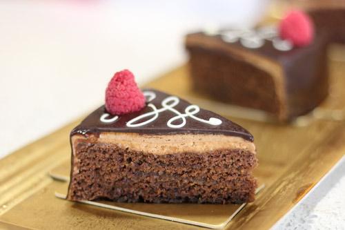 Pastel de chocolate y trufa